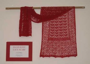 Red Lace Shawl Photo